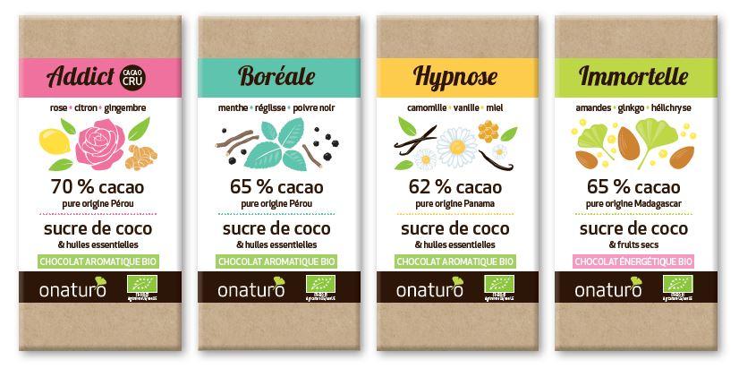 Chocolats aux huiles essentielles onaturo